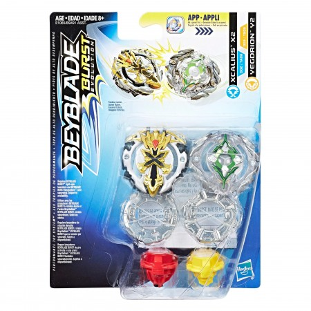 Beyblade Burst Evolution Dual Pack Xcalius X2 and Yegdrion Y2 оригинал Hasbro: Xcalius X2 and Yegdrion Y2