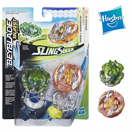 Beyblade Burst Turbo Slingshock Dual Pack Roktavor R4 and Thorns-X Minoboros M4 оригинал Hasbro: Roktavor R4 Minoboros M4