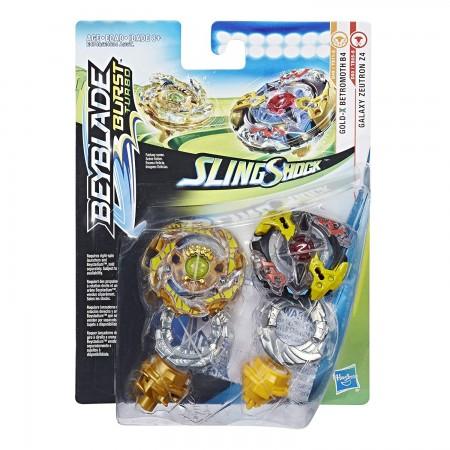 Beyblade Burst Turbo Slingshock Dual Pack Galaxy Zeutron Z4 and Gold-X Betromoth B4 оригинал Hasbro (3162): Zeutron Z4 Betromoth B4