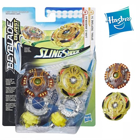 Beyblade Burst Turbo Slingshock Dual Pack Spiral Treptune T4 and Lava-X Anubion A4 оригинал Hasbro: Treptune T4 Anubion A4