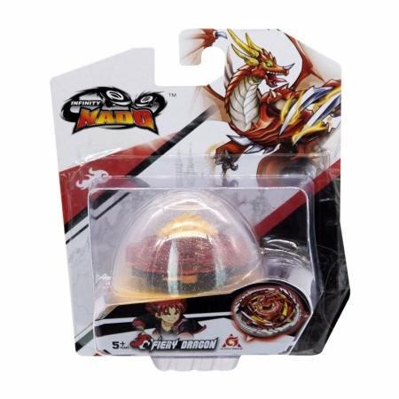 Волчок Auldey Infinity Nado V EGG с устройством запуска Fiery Dragon Огненный Дракон (3935): Fiery Dragon