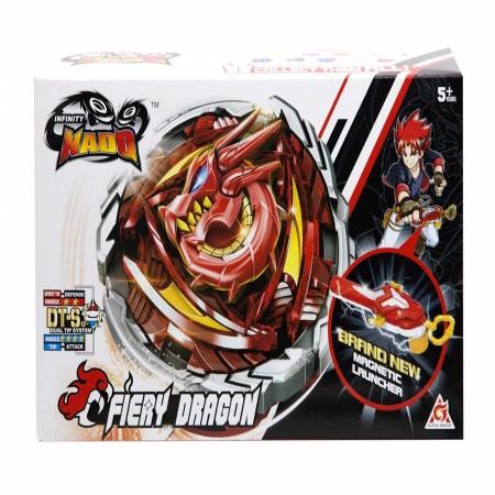 Волчок Auldey Infinity Nado V с устройством запуска Fiery Dragon Огненный Дракон (3933): Fiery Dragon