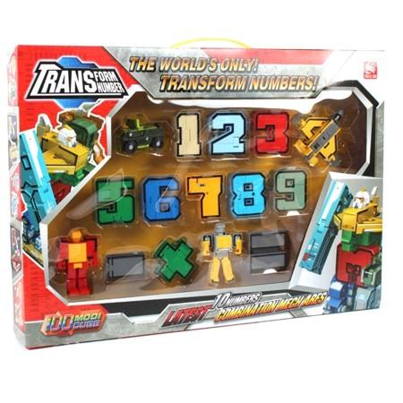 Развивающий конструктор цифры-трансформеры 10 в 1: Цифры-трансформеры