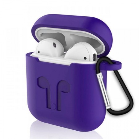 Силиконовый чехол для беспроводных наушников i10 TWS (фиолетовый) (3007): Силиконовый чехол для i10 TWS и i12 TWS (фиолетовый)