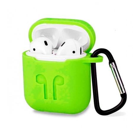 Силиконовый чехол для беспроводных наушников i10 TWS (зеленый) (3002): Силиконовый чехол для i10 TWS и i12 TWS (зеленый)