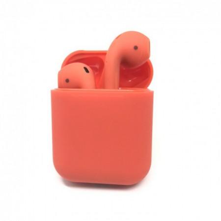 Беспроводные наушники в кейсе HBQ I12 TWS (красные): i12 TWS